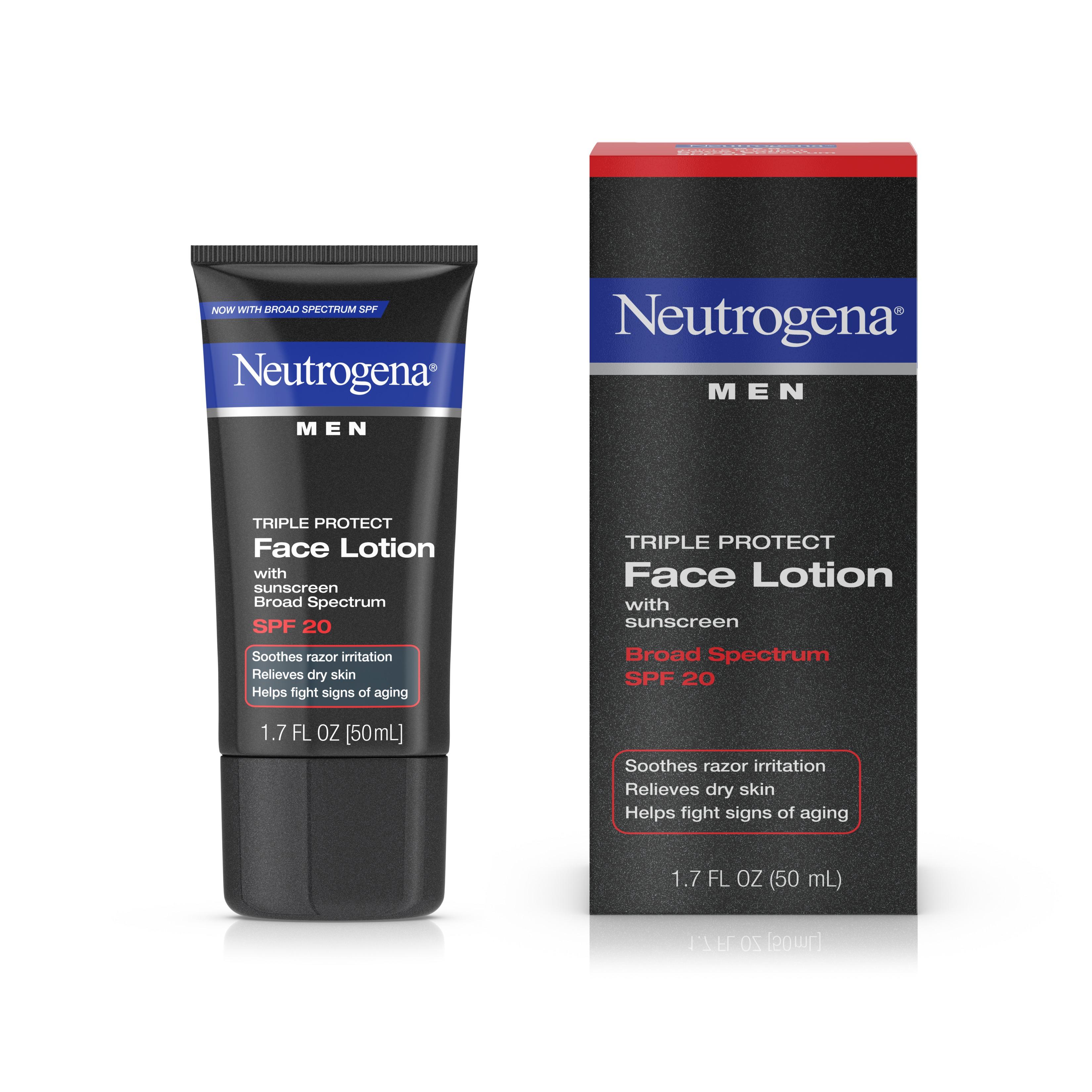 Neutrogena Triple Protect Men's Face Lotion, SPF 20, 1.7 fl. oz