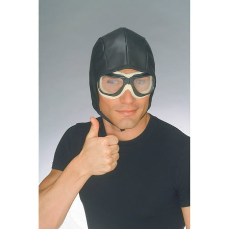 Adult Aviator Helmet And Goggles Halloween Costume Accessory (Halloween Goggles)