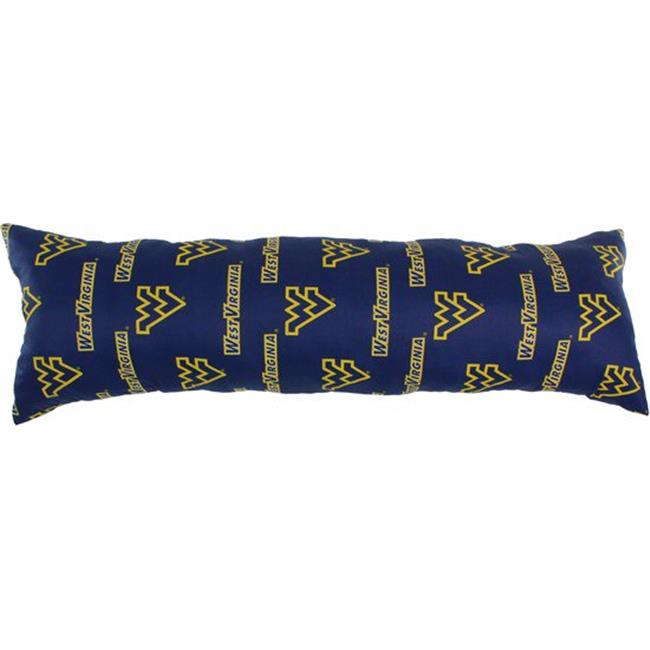 20 x 60 in. West Virginia Mountaineers Printed Body Pillow