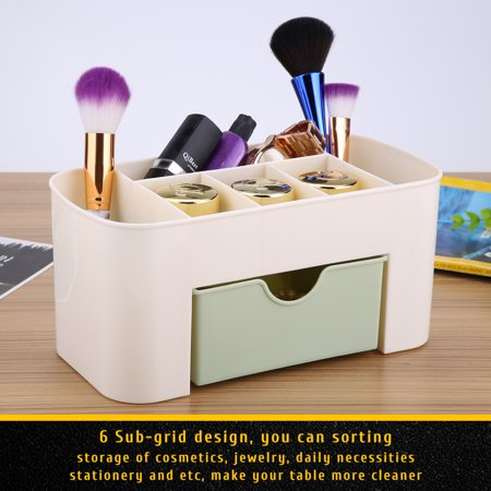 Superb Walfront Multifunctional Desk Desktop Organizer Drawer Stationery Holder Makeup Storage Box Home Storage Box Makeup Organizer For Creams Download Free Architecture Designs Licukmadebymaigaardcom