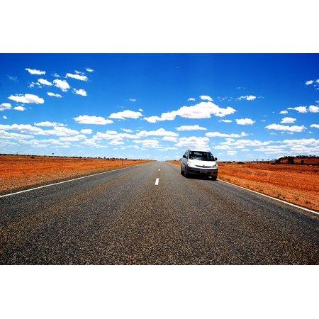 Laminated Poster Pkw Car Rental Bush Road Outback Auto Australia Poster Print 24 X 36