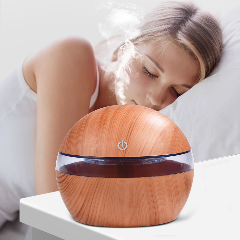 VBESTLIFE Mini Humidifier,300ML LED Ultrasonic Humidifier Cool Air Oil Diffuser Purifier Home Office Room Diffuser Humidifier