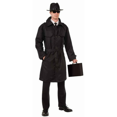 Drive Scorpion Jacket Halloween (Secret Spy Trench Coat Men's Adult Halloween Costume, 1)