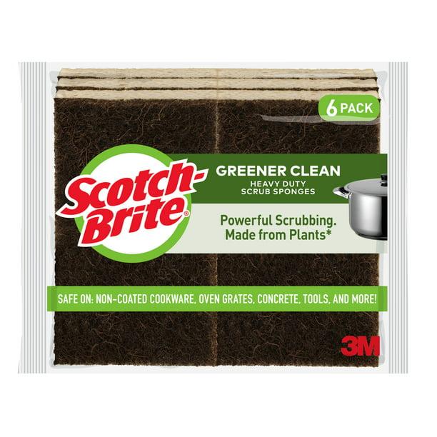 Scotch-Brite Greener Clean Heavy Duty Scrub Sponge, 6 Count