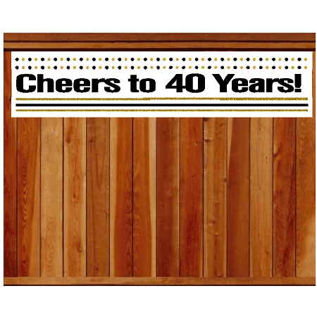 Item#040CIB 40th Birthday / Anniversary Cheers Wall Decoration Indoor / OutDoor Party Banner (10 x 50inches)