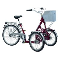 """PFIFF Primo Adult Front Tricycle, 20"""" and 26"""" Wheels, Maroon"""