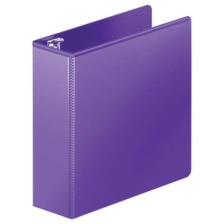 "Wilson Jones Heavy-Duty D-Ring View Binder w/Extra-Durable Hinge, 3"" Cap, Purple -WLJ38549267"