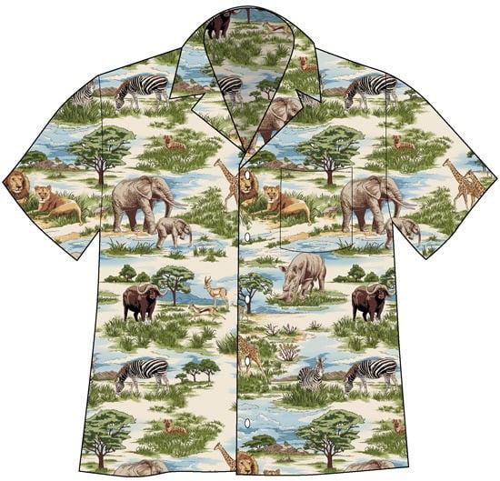 David Carey African Savanna Camp Shirt