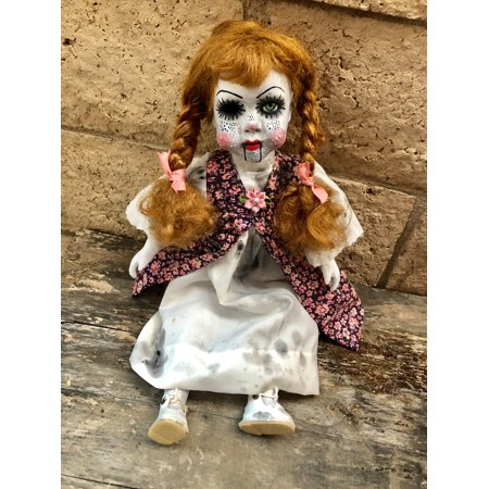 OOAK Annabelle w the Pox Creepy Horror Doll Art by Christie - Annabelle Doll For Sale