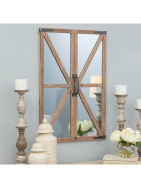 Walker Farmhouse Window Mirror Nutmeg 30