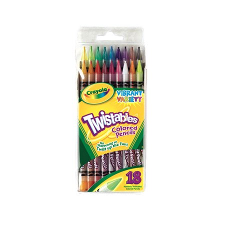Crayola 18 count Twistables Colored - Crayola Twistable Colored Pencils