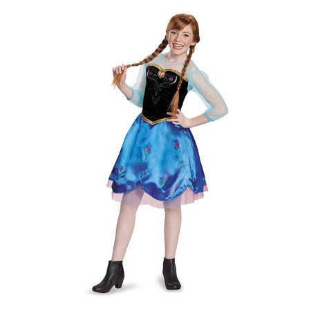 Mermaid Halloween Costumes For Tweens (Disguise Anna Traveling Tween Costume, X-Large)