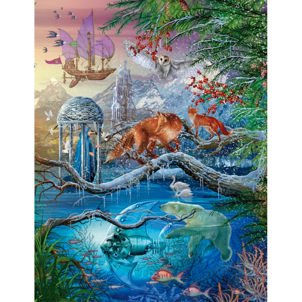 Shangri La Winter 1000 Piece Puzzle