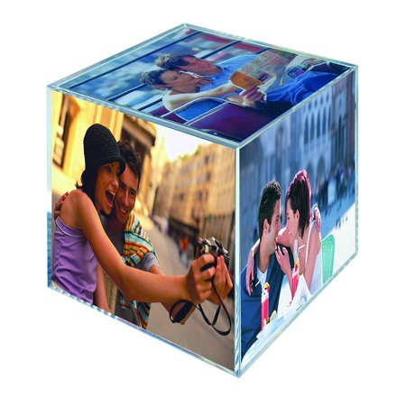 MCS Clear Plastic 6- Sided Photo Cube (4 Pack)](Photo Cubes)