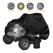 """Fit Deck up to 72""""/55"""" Universal Waterproof Riding Lawn Mower Tractor Cover Heavy Duty Garden Protector"""