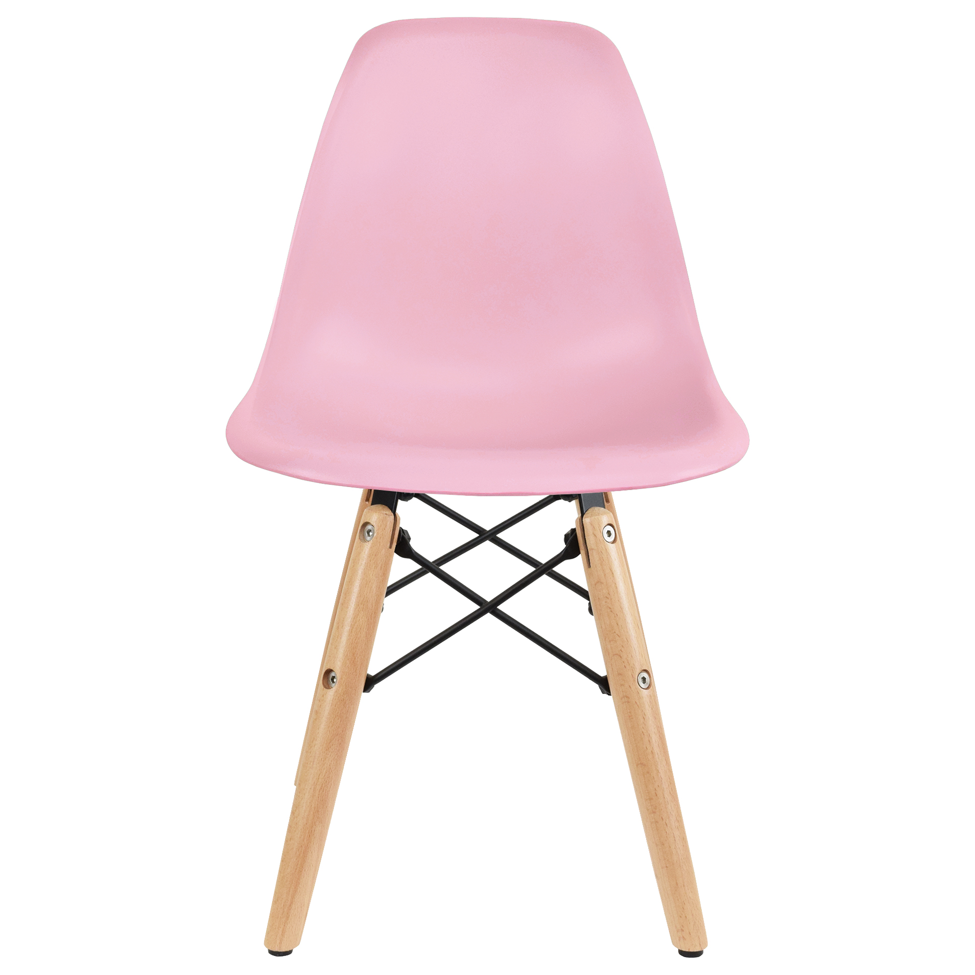 2xhome - White - Toddler Kids Size Plastic Side Chair White Seat
