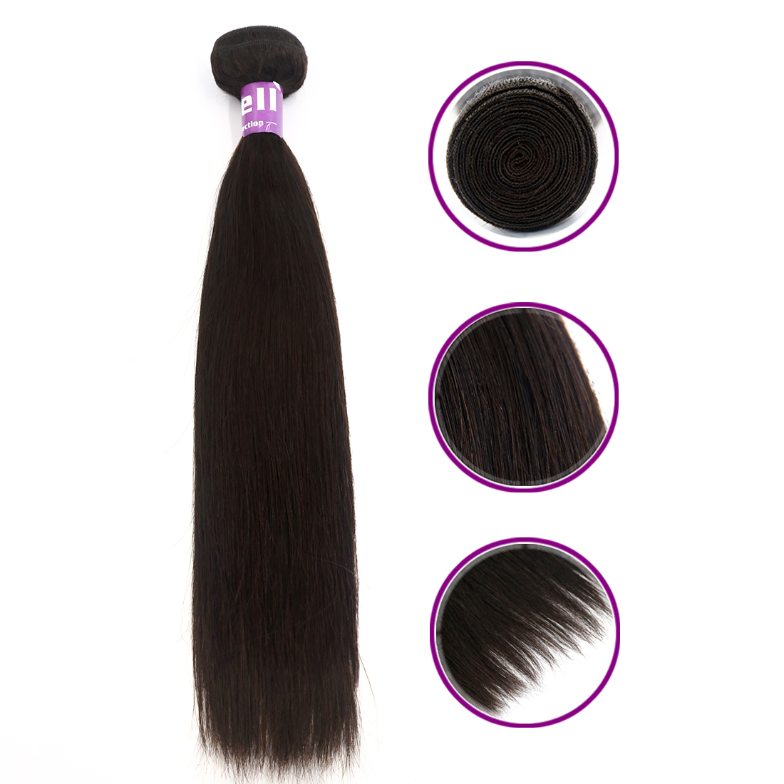 "Human Hair Brazilian Human Hair Straight 12""-30"" 1 / 3 Bundles 8A Unprocessed Peruvian Remy Silky Hair Extensions"