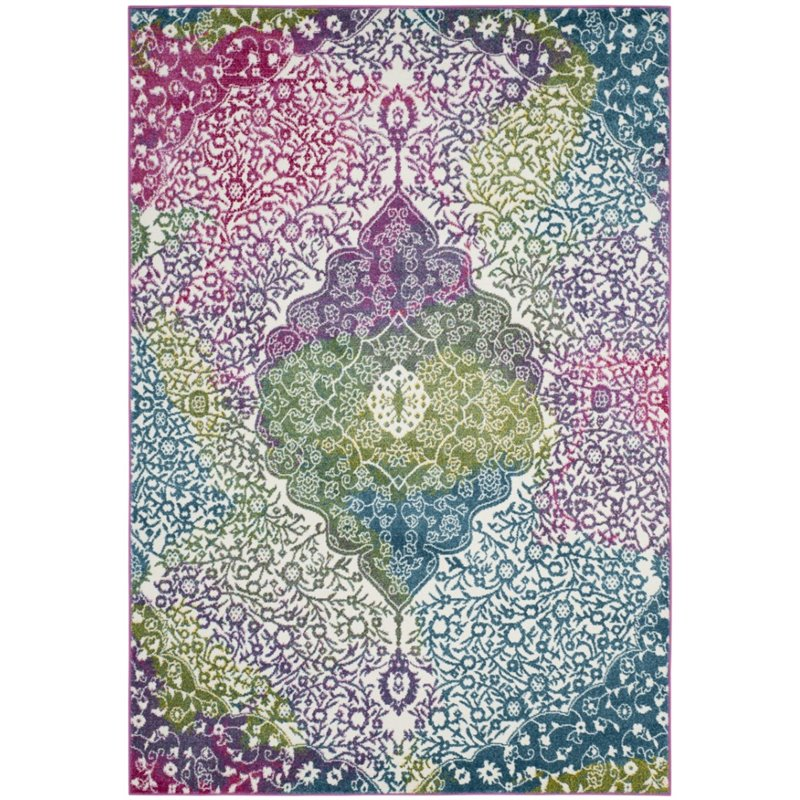 Safavieh Watercolor Edna Abstract Colorful Area Rug