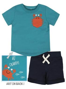 Gerber Baby Boys Short Sleeve Tee and Shorts Set, 2-Piece