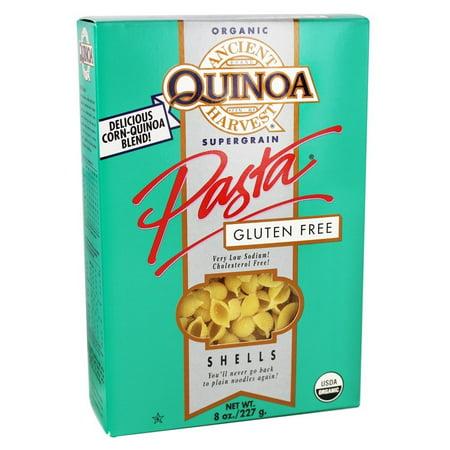Gluten Free Shells - Ancient Harvest Quinoa - Organic Gluten Free Supergrain Quinoa Pasta Shells - 8 oz (pack of 4)