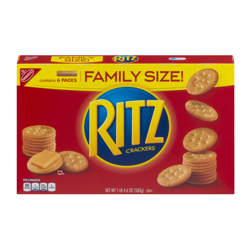 Nabisco Ritz Crackers Family Size - 6 PK, 20.6 OZ