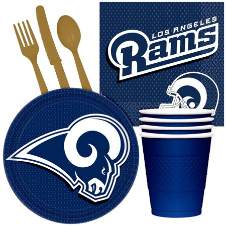 NFL Party Supplies Los Angeles Rams Tailgate Party Pack For 32](Party Supplies Los Angeles)