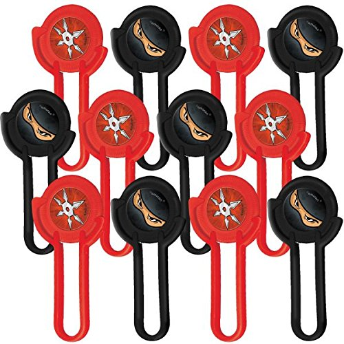 Happy Birthday 'Ninja' Disc Shooters / Favors (12ct)