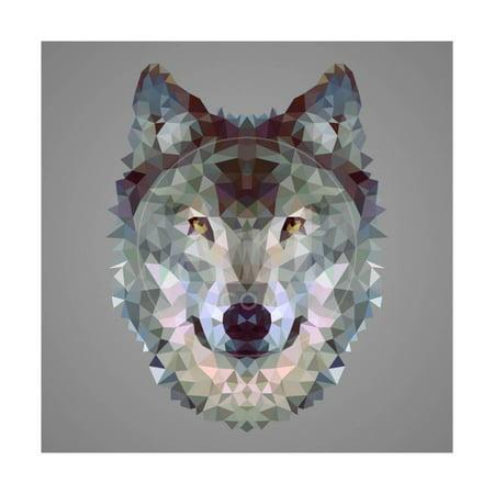 Wolf Low Poly Portrait Print Wall Art By kakmyc](Low Poly Portrait)