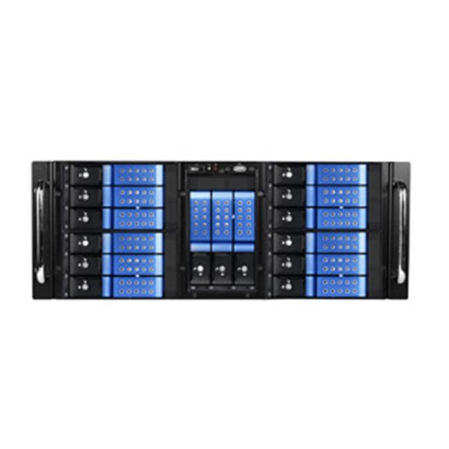 iStarUSA D410-DE15BL 4U 10-Bay Stylish Storage Server Rackmount 15 x 3.5 In. Trayless Hotswap Chassis, Blue