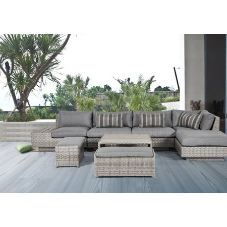 Bungalow Rose Samira 8 Piece Sectional Set With Cushions Walmart Com