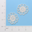 "Expo 1 3/4"" x 1 1/2"" Corded Lace Applique Pack of 2 - CL3273PIV"