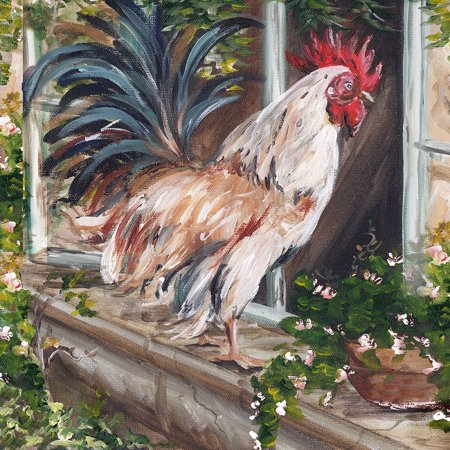 - French Country Rooster Poster Print by Tre Sorelle Studios