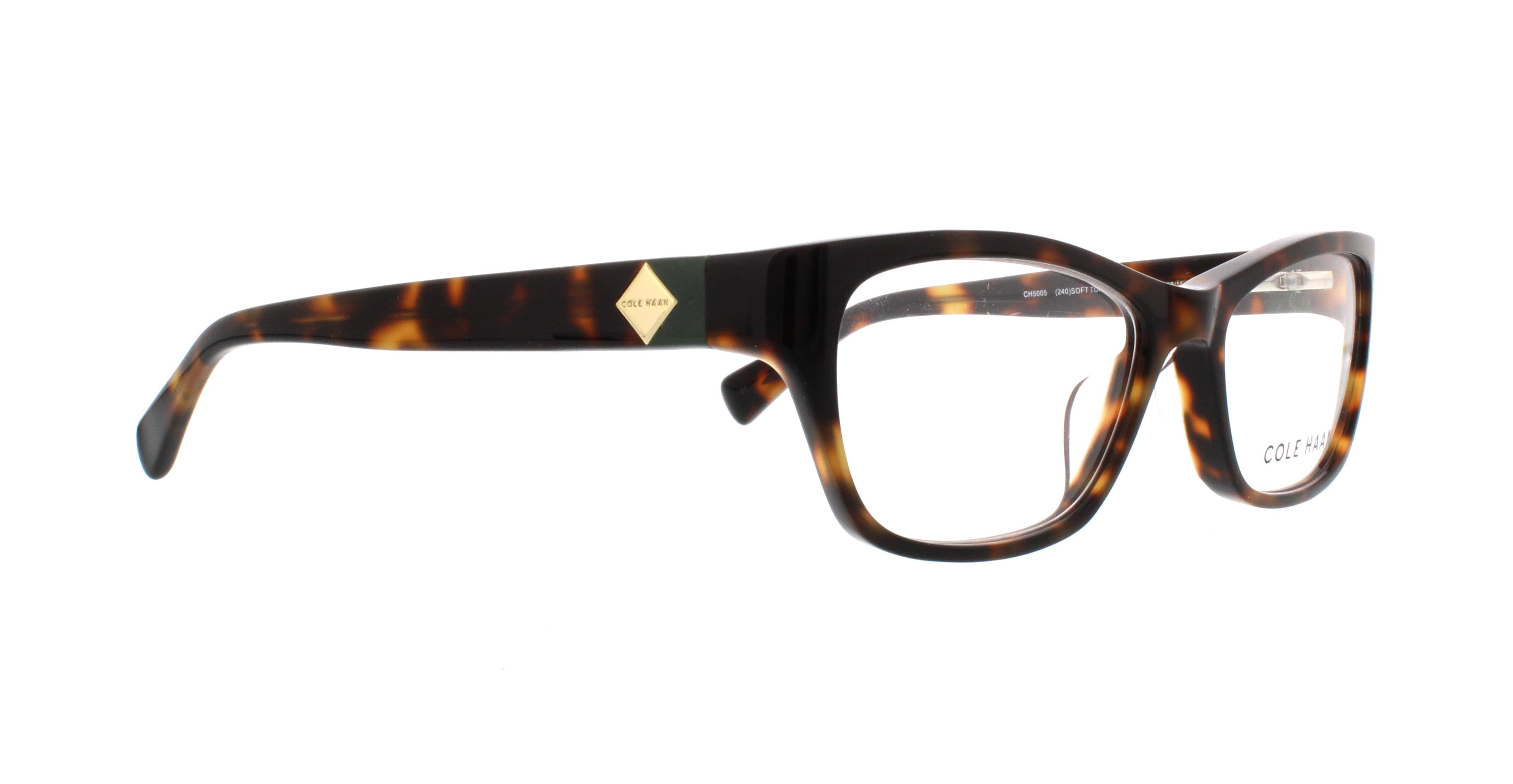 COLE HAAN Eyeglasses CH5005 240 Soft Tortoise 52MM - Walmart.com