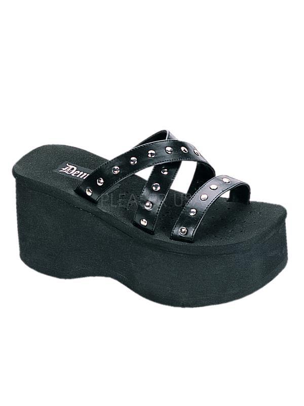 FUNN19 B PU Demonia Platform Sandals & Shoes Womens BLACK Size: 8 by