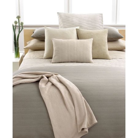 Calvin Klein Home Studio Dash Thorn Mini Wave Quilted Euro Sham Dune Calvin Klein Bed Pillow