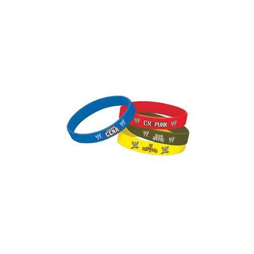 Amscan 224750 Wwe Rubber Bracelets (4) - Multi