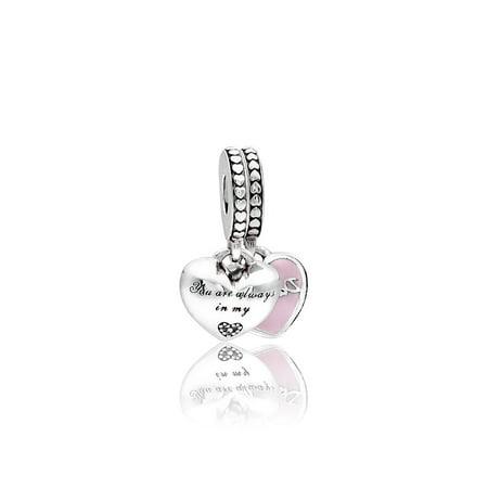Mother & Daughter Hearts Pendant Charm - 792072EN40