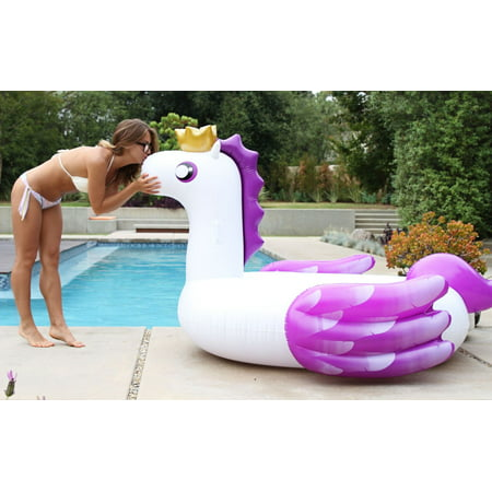 Sweet Tooth - Original Pegasus Pool Floats for Adults and Kids - Swimming Inflatable Floaties as Adult Swim (Cat Floaties)