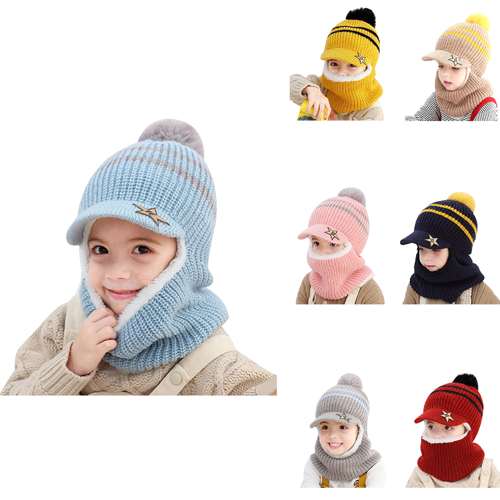 Yutdeng Kids Winter Hat and Gloves Set Lovely Beanie Hat with Ears Knitted Cap Boys Girls 0-2 Years Skin-Friendly Cotton Hat