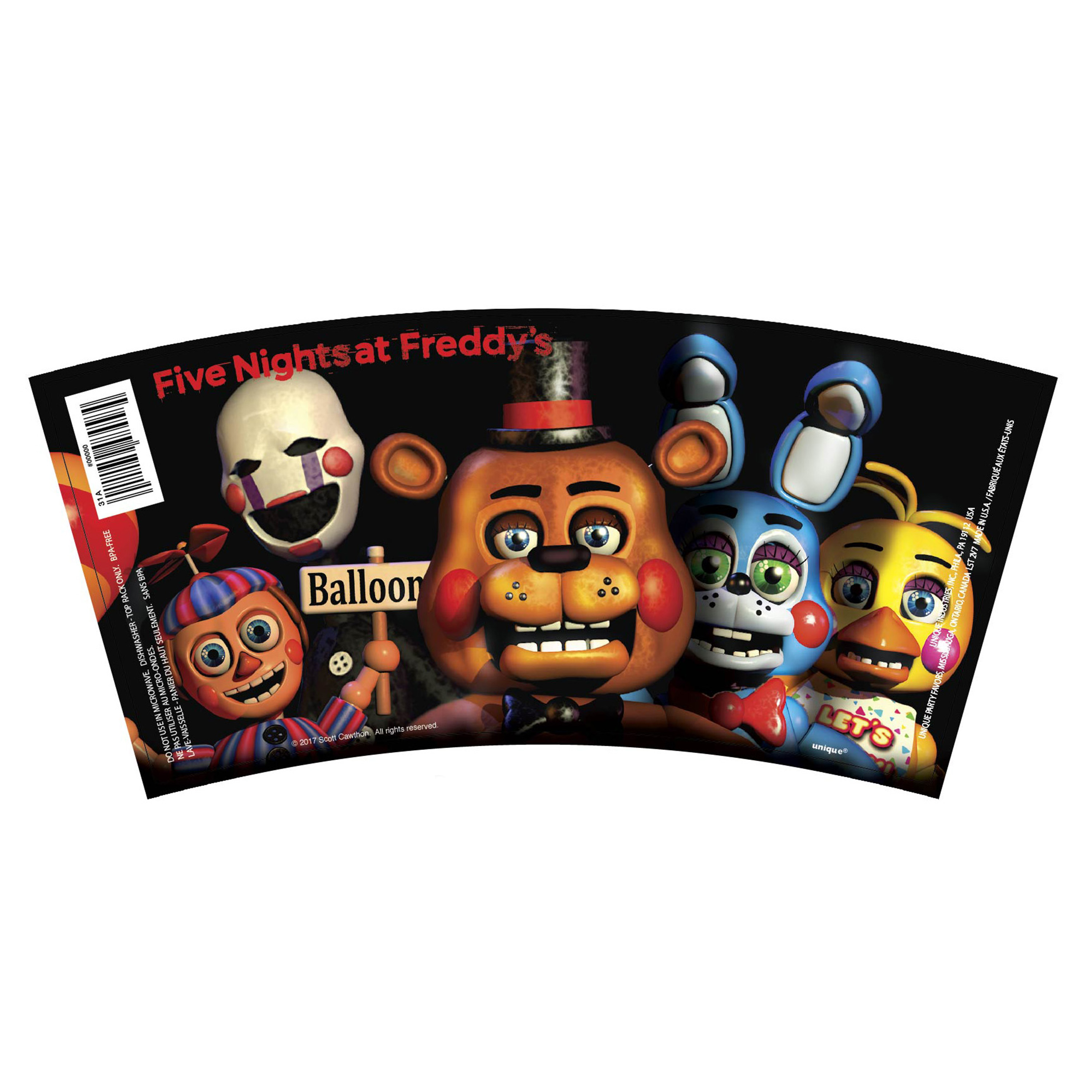 Five Nights At Freddys Plastic 16oz Cup 1ct