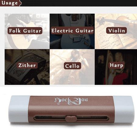 Plastic Dual Purpose Guitar Bass String Fingerboard Cleaner Rust Cleaning Tool  - image 10 de 11