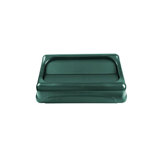 Rubbermaid SLIM JIM SWING TOP PLAS  LID 20.5X11.4X5 GREEN