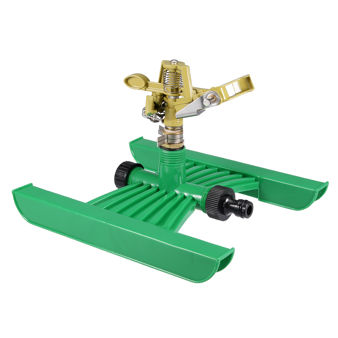 Unique Bargains H Shaped Base Zinc Alloy Garden Lawn Yard 360 Degree Rotary Water Sprinkler