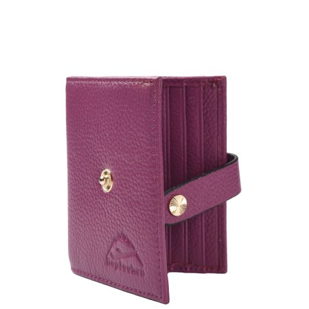 Hopsooken RFID Blocking Slim Womens Bifold Wallet Leather Card Holder Money  Clip(purple) 8d5d11f80