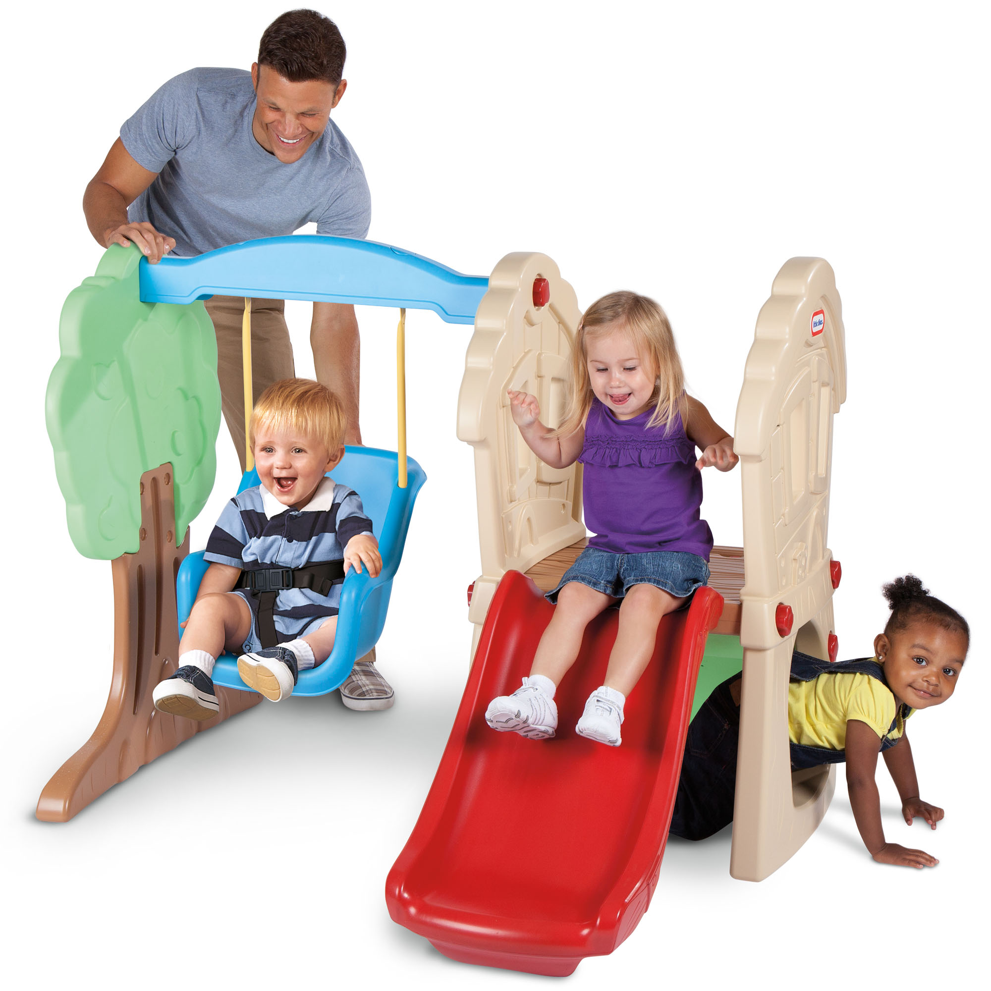 Little Tikes Hide & Seek Climber and Swing - Brown/Tan