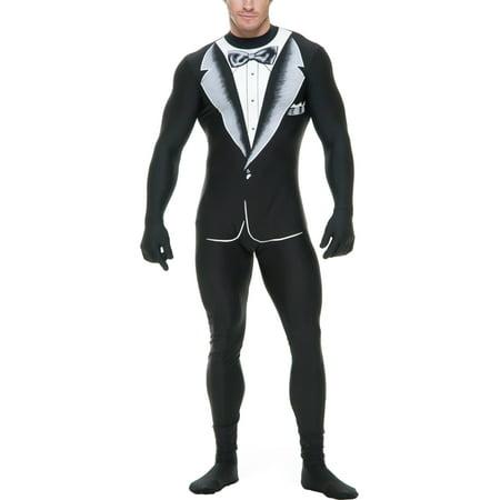Adults Mens Formal Tuxedo Zentai Bodysuit Costume Small 36-38