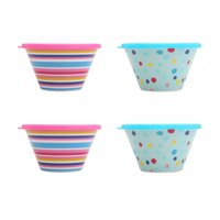 4-Pack Mainstays Kids Melamine Berry Bowl with Lid
