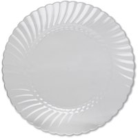 Classicware WNA Comet Heavyweight Plastic Clear Plates, Clear, 12 / Pack (Quantity)