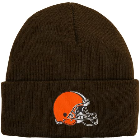 Cleveland Browns Youth Basic Cuffed Knit Hat - Brown - OSFA Basic Hat Knitting Pattern