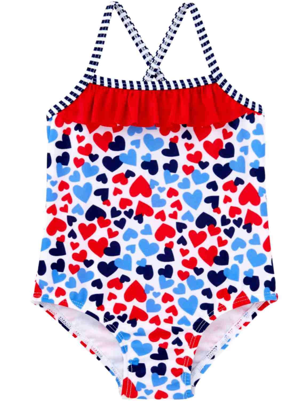 Healthtex Baby Girls Ruffle 2 Piece Bikini Swimsuit